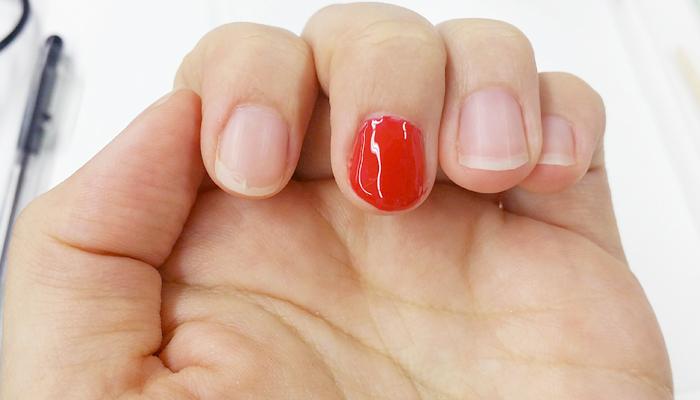 1Dayレッスンで実際にジェルを塗った爪