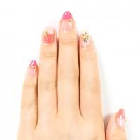 pinkbicolor-nail